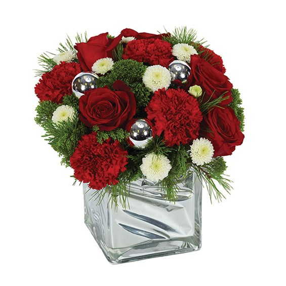 Shimmering Bright Holiday Wishes bouquet of flowers for sale