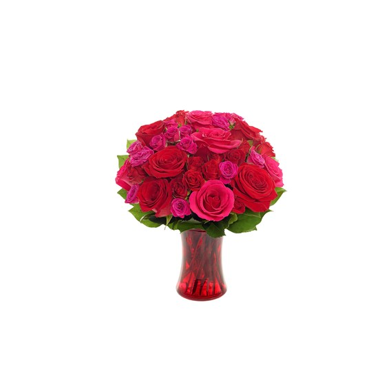 Radiant Red Romance Flower Bouquet for sale